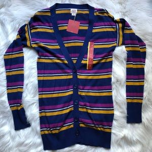 Mossimo Lightweight Striped Cardigan SMALL